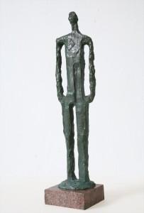Barbat mergand,bronz, 48x12x6
